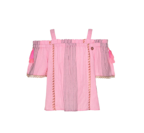 Mim Pi Pink Blouse Off Shoulder