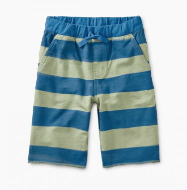 Tea Collection Pattern Cruiser Shorts Painted Stripe