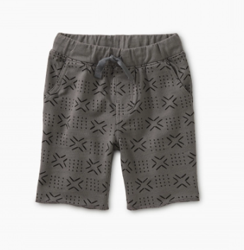 Tea Collection Patterned Cruiser Baby Shorts Basketweave Geo