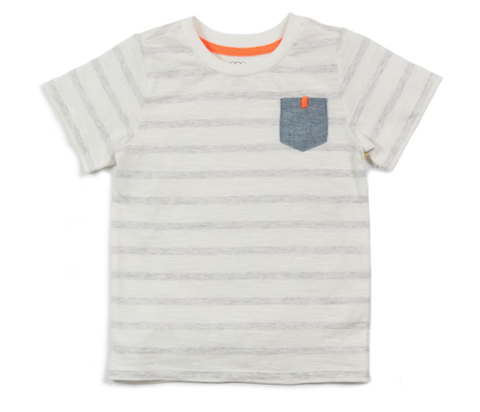 Egg Shane Pocket Tee grey stripe