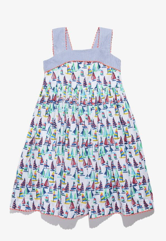 RRR Girls Regatta Joie Dress Aqua