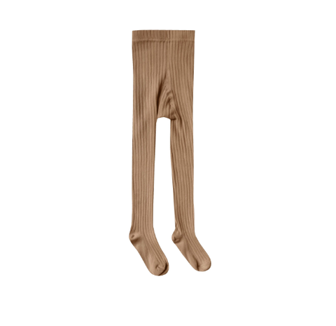 Rylee and Cru Solid Ribbed Tights Caramel