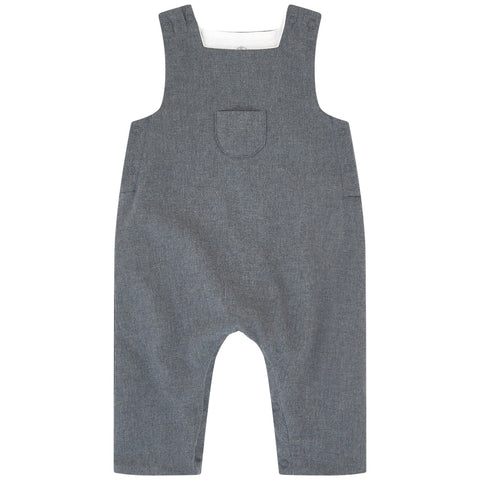 Petit Bateau Overall with Front Pocket Grey