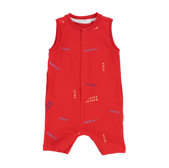 Miles Baby Piscine Baby Romper Knit Red