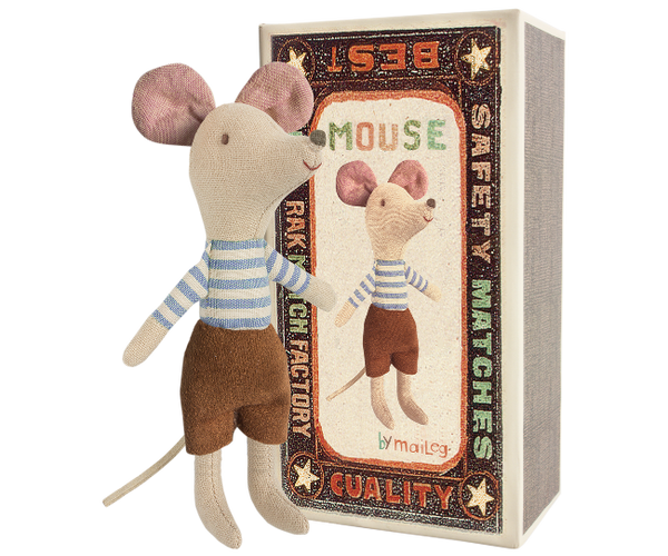 Maileg Mouse Big Brother in a box