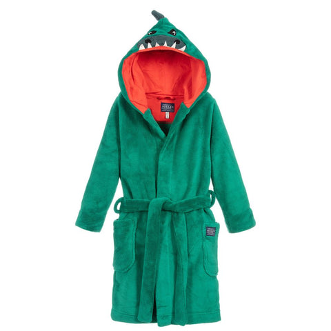 Joules Novelty Dino Hood Dressing Bathrobe