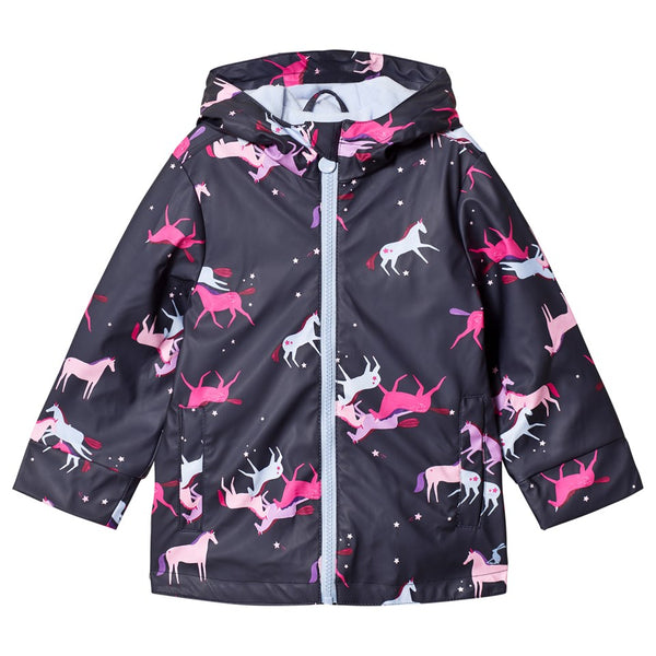 Joules Girls Older Raindance Coat Unicorn
