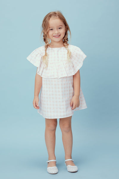 Love and Lemons  Juliana Ruffle Dress Pink Gingham
