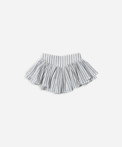 R&C Stripe Skort Ivory/Washed Denim