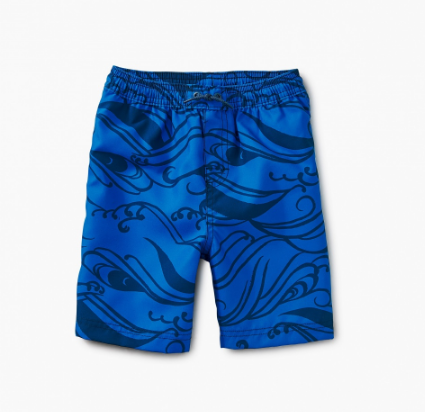 Tea Collection Pattern Swim Trunks Big Kahuna
