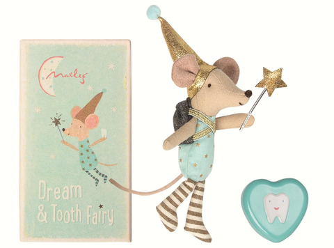 Maileg Tooth fairy, Big brother mouse w. metal box