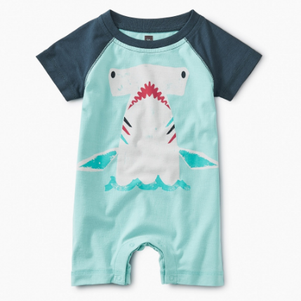 Tea Collection Hammerhead Raglan Romper