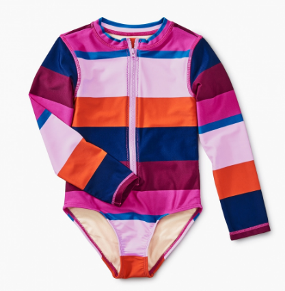 Tea Collection Cabana Stripe One Piece Rashguard