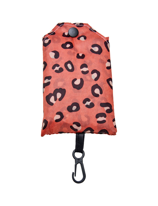 Frank and Rosie Fold Up Shopper - Pink Leopard