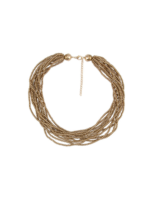 Barcs Australia Pearl Volume Women's Gold Necklace