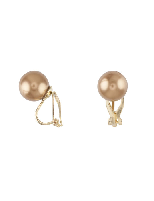 Barcs Australia Pearl Women's Gold Plated Clip Earrings