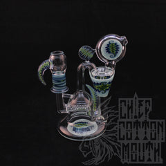 WORKED RECYCLER BLUE/GREEN REVERSALS AND ACCENTS