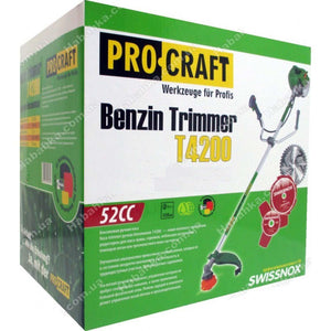 Set Prasitoare (28) + Cultivator + Cap Drujba + Motocoasa PROCRAFT Germany 4200, 5.8CP, 52CC