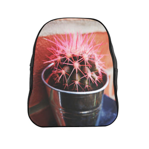 Pink Spikes School Backpack