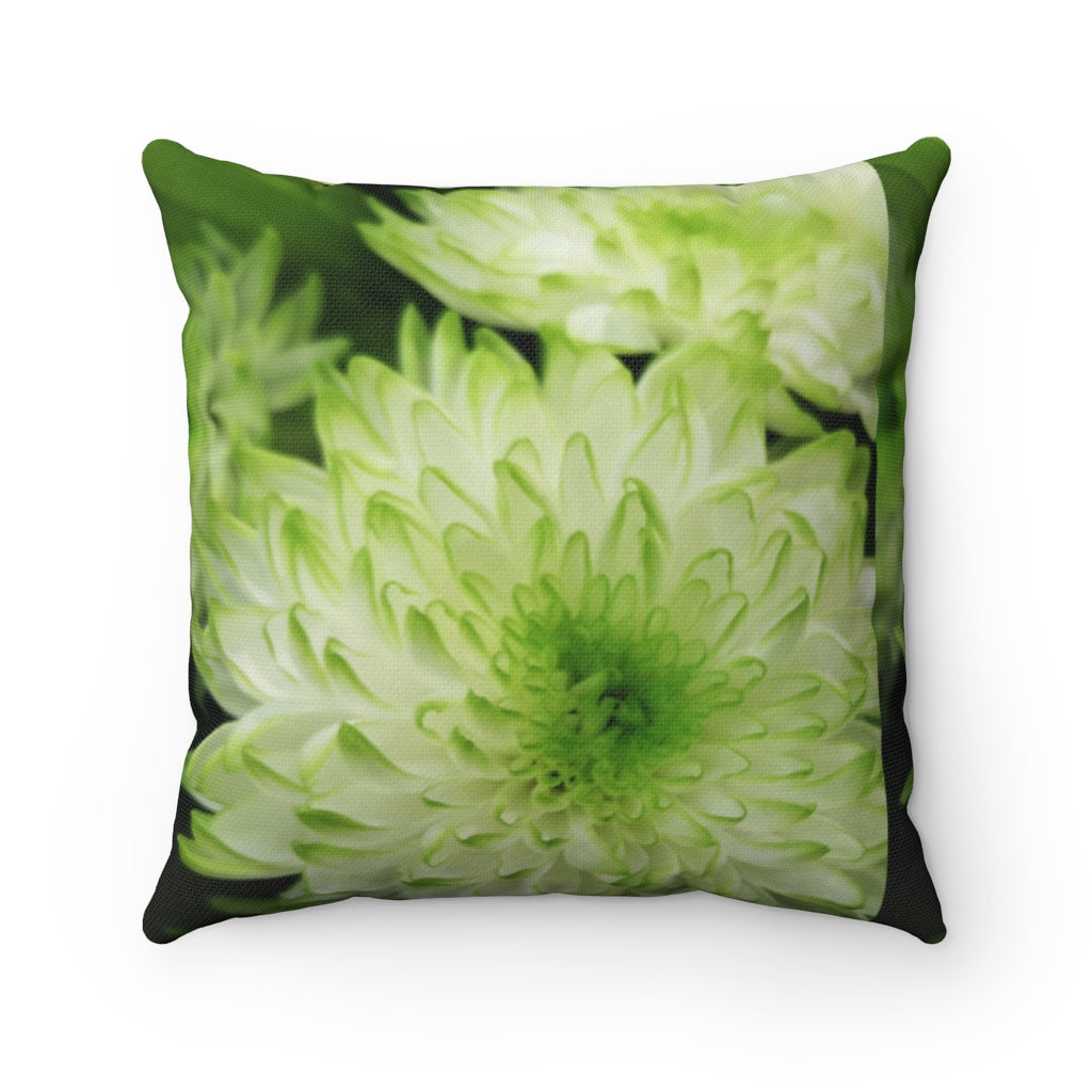 Spring Flowers Spun Polyester Square Pillow