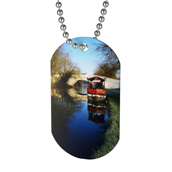 Life on the canal Dog Tag
