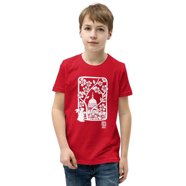 DC Sakura Woodblock Print Youth Short Sleeve T-Shirt