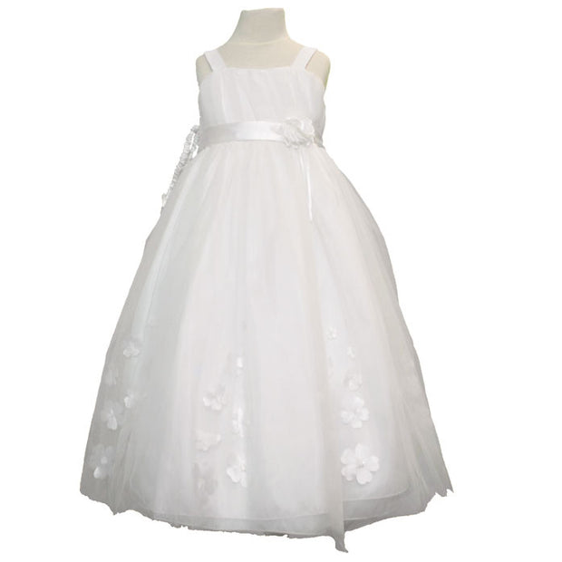 Flower Girl Dress with Satin Flowers