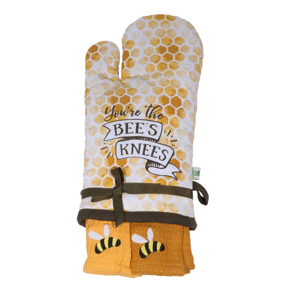 You're the Bee's Knees Oven Mitt & Towel Set