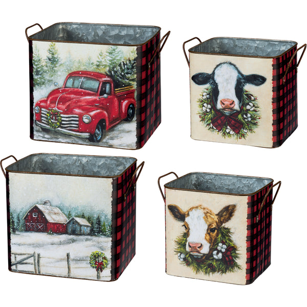 Farm Christmas Bin Set