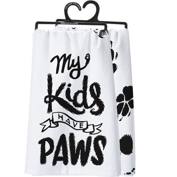 My Kids Have Paws Dish Towel
