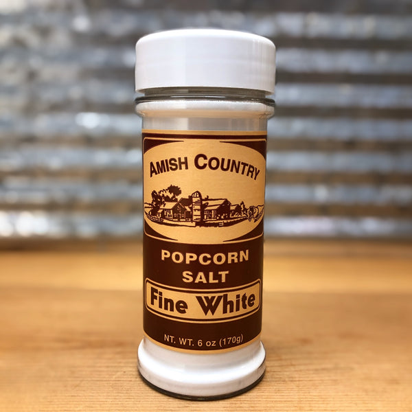 Amish Country Fine White Popcorn Salt
