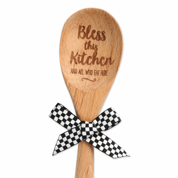 Bless This Kitchen Wood Spoon