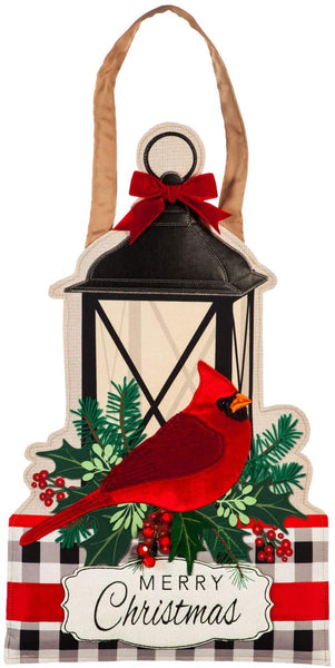 Merry Christmas Cardinal Door Decor