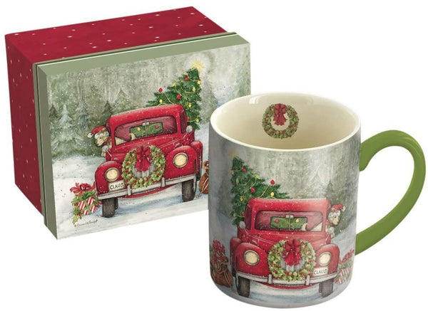 Santa's Truck Ceramic Coffee Mug