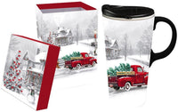 Winter Truck Ceramic Travel Mug