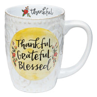 Thankful Grateful Blessed Colorful Mug
