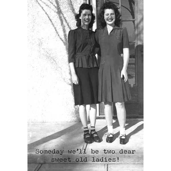 Someday We'll Be Two Dear Sweet Old Ladies Greeting Card
