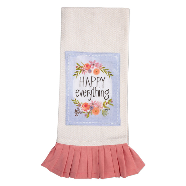 Happy Everything Tea Towel