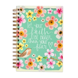 Let Your Faith Be Bigger Than Your Fear Notebook Journal
