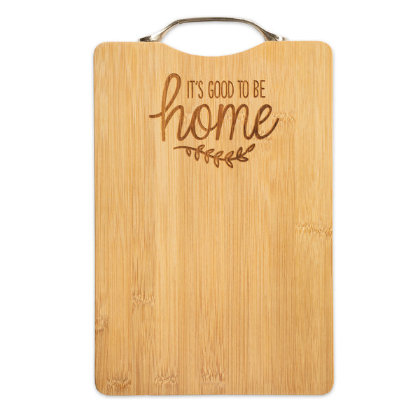 It's Good To Be Home Bamboo Cutting Board