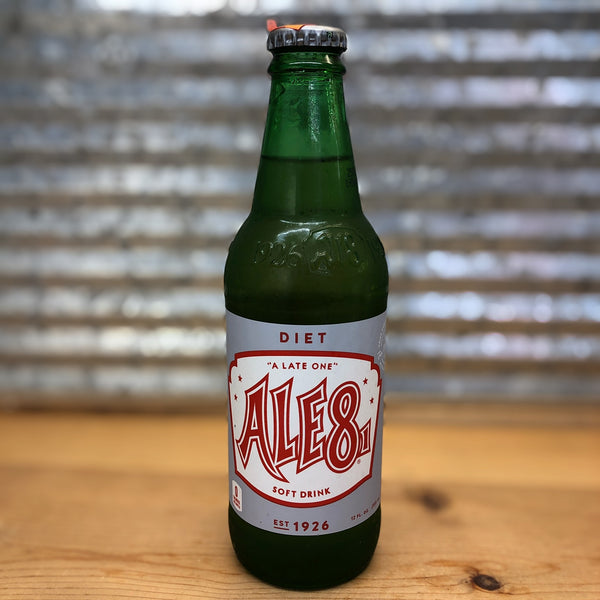 Ale8 Diet Soda Glass Bottle