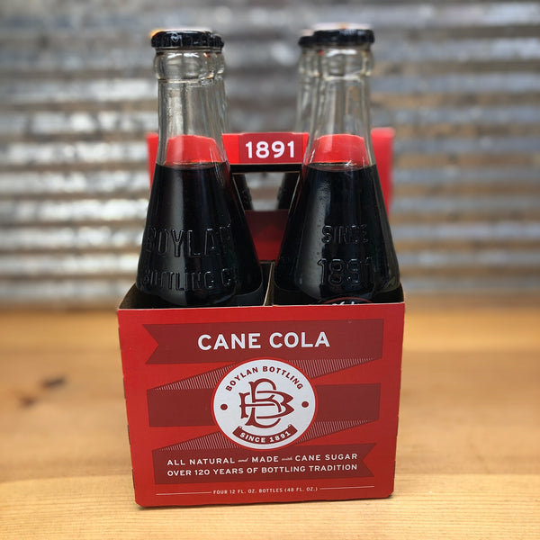 Boylan Cane Cola Soda Glass Bottle 4pk