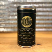Elmwood Inn Fine Tea - English Breakfast - Black Decaffeinated