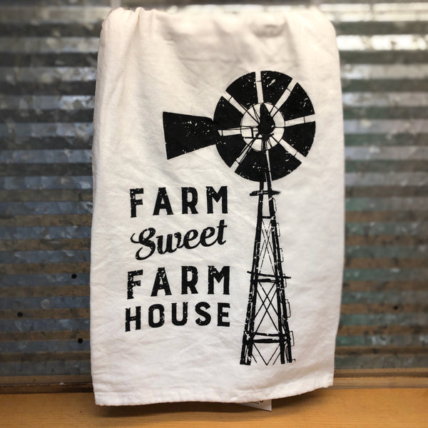 Farm Sweet Farm House Dish Towel