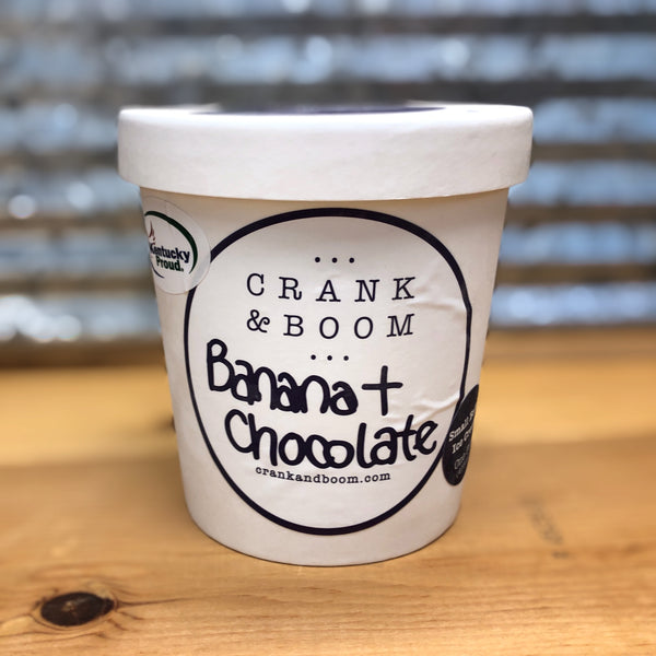 Crank & Boom Banana Chocolate Ice Cream