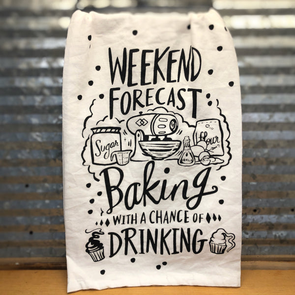 Weekend Forecast Baking Dish Towel