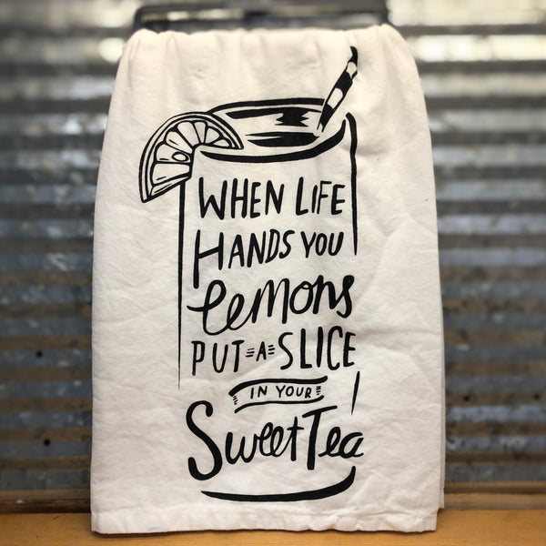 When Life Hands You Lemons Dish Towel
