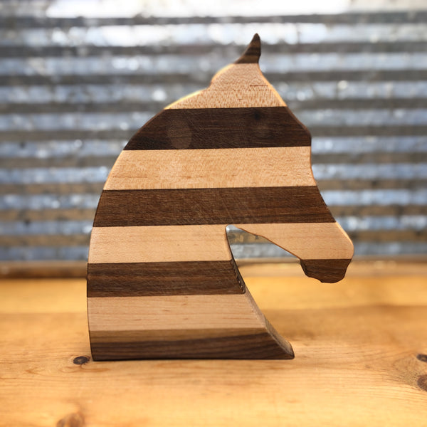 Horse Head Shaped Small Wood Cutting Board