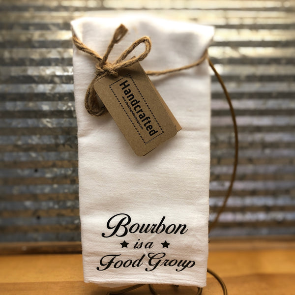 Handcrafted Bourbon is a Food Group Tea Towel