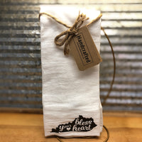 Handcrafted Bless Your Heart Kentucky Tea Towel
